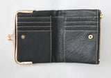 Woven wallet in Black