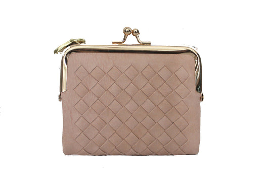 Woven Wallet in Pale Pink