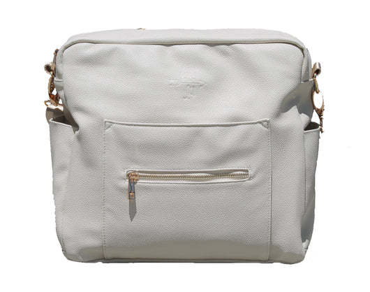 Warehouse sale- Cream flawed bag