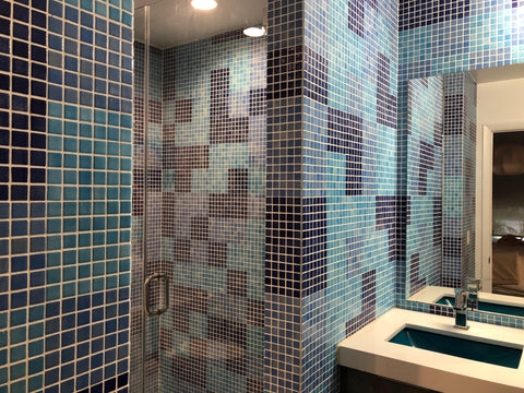 aquablu mosaics custom shower mosaic design glass tile