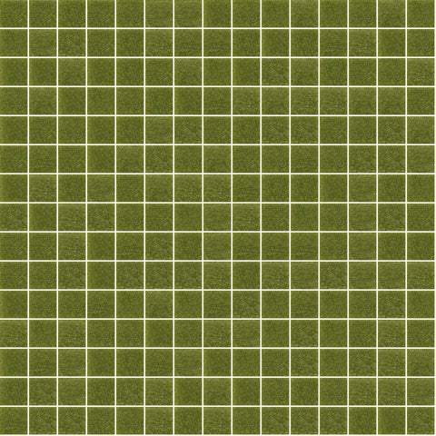 "Dark Olive Green, 3/4"" x 3/4"" - Glass Tile"