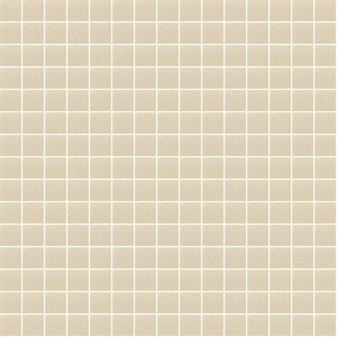 "Cream, 3/4"" x 3/4"" - Glass Tile"