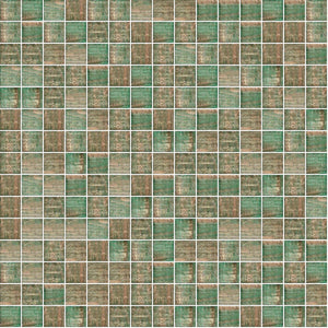 "Emerald Sparkle, 3/4"" x 3/4"" - Glass Tile"