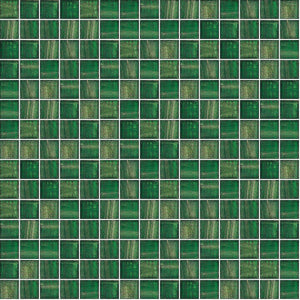 "Jungle Canopy, 3/4"" x 3/4"" - Glass Tile"