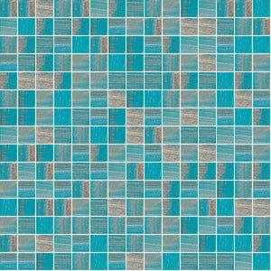 "Argent Sky, 3/4"" x 3/4"" - Glass Tile"