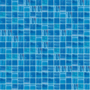"Aquatic Bliss, 3/4"" x 3/4"" - Glass Tile"
