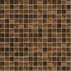"Copper Blast, 3/4"" x 3/4"" - Glass Tile"