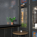 Brushed Black, Fish Scale Mosaic - Glass Tile