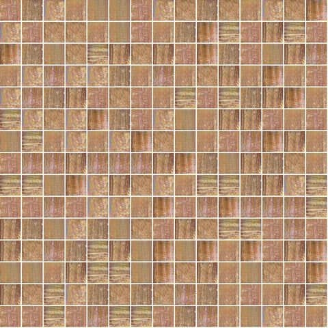 "Copper Bloom, 3/4"" x 3/4"" - Glass Tile"