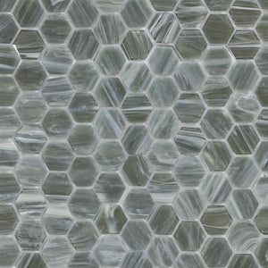 Gunpowder, Hexagonal | ABG216H | Mosaic Glass Tile