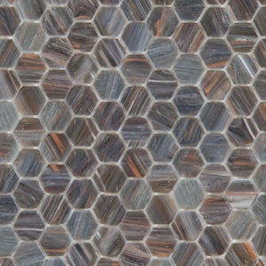 Campfire, Hexagonal | ABG218H | Mosaic Glass Tile