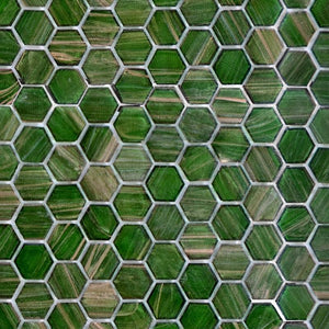 Jungle Canopy, Hexagonal | ABG236H | Mosaic Glass Tile