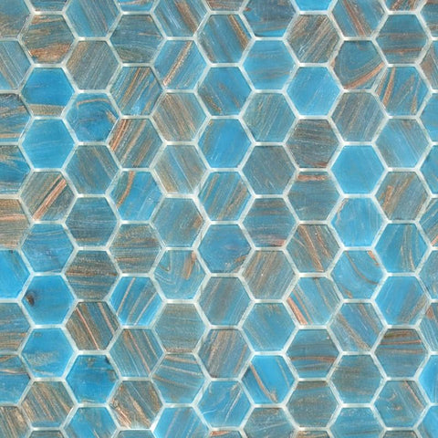 Argent Sky, Hexagonal | ABG242H | Mosaic Glass Tile