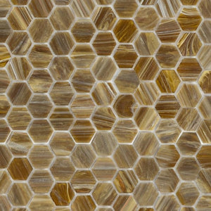 Earthstone, Hexagonal | ABG282H | Mosaic Glass Tile
