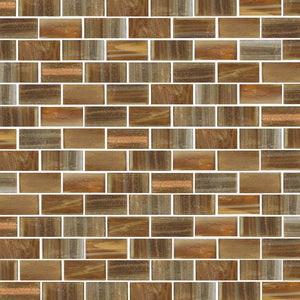 Brillante 282 Rectangular Mosaic Tile | TREND Glass Mosaic Tile