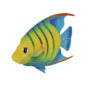 Banded Angelfish, Left | AFBMCOLL | Pool Mosaic