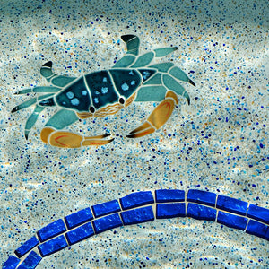 Blue Swimmer Crab | CBSMCOOS | Pool Mosaic by Artistry in Mosaics