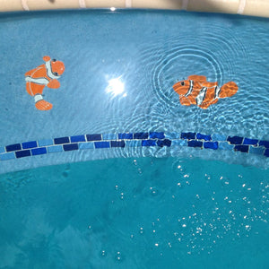 Clownfish Left | CFLORALS | Pool Mosaic by Artistry in Mosaics