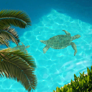 Sea Turtle - Green | SEAGRERS | Pool Mosaic