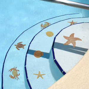 "Starfish - Brown 5"" - Pool Mosaic"