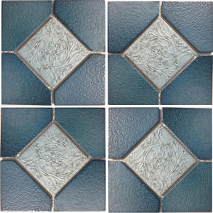 "ALCO-502 - Nature Blue, 6"" x 6"" - Porcelain Pool Tile - Fujiwa"