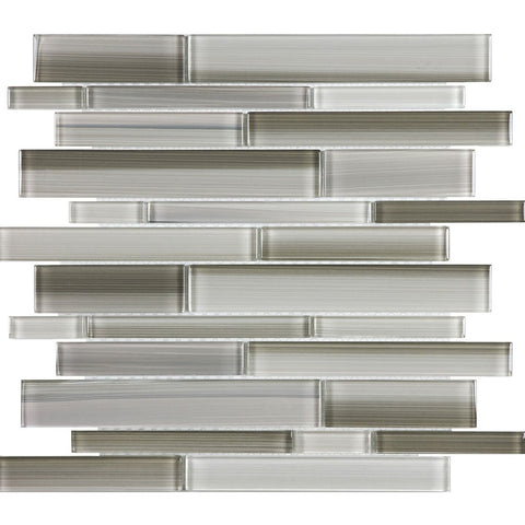 ANAFUSICLARS - Aquatica Clay, Linear Mixed - Glass Tile