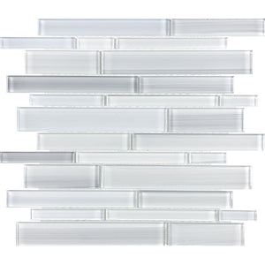 ANAFUSIICERS - Aquatica Ice, Linear Mixed - Glass Tile