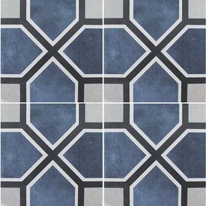 "APEFLEUANTON6 Antonette, 6"" x 6"" (1 box, 22 pcs) - Porcelain Pool Tile"