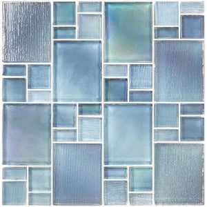 Avalon Blue, Mixed - Glass Tile