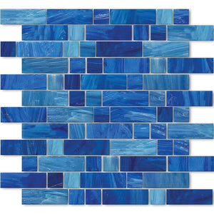 AVEDASHAEGEAN13 - Aquatica Aegean, Mixed Linear - Glass Tile