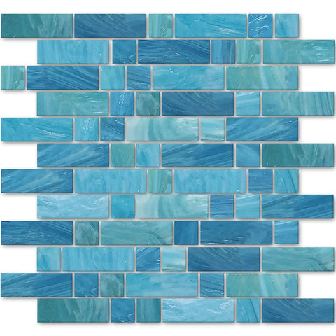 AVEDASHCASP13 - Aquatica Caspian, Mixed Linear - Glass Tile