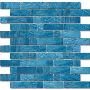 AVEDASHIONIAN13 - Aquatica Ionian, Mixed Linear - Glass Tile