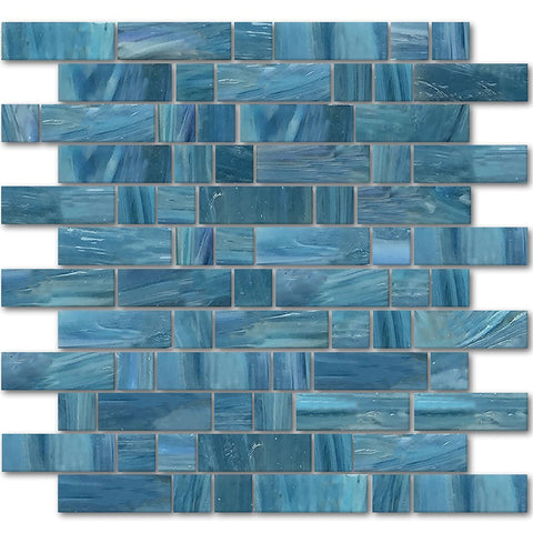 AVEDASHJAVA13 - Aquatica Java, Mixed Linear - Glass Tile