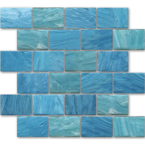 "AVEGARDCASP23 - Aquatica Caspian, 2"" x 3"" - Glass Tile"