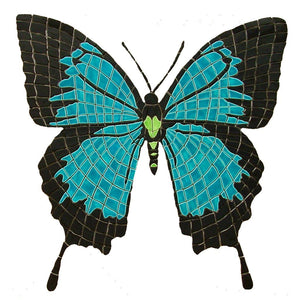 Butterfly, Papilio Ulysses (Special Order) - Pool Mosaic - NS1316 - Artisry in Mosaics Custom Mosaics