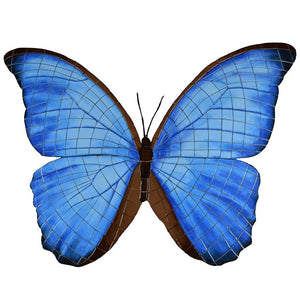 Butterfly, Electric Blue (Special Order) - Pool Mosaic - NS3065 - Artisry in Mosaics Custom Mosaics