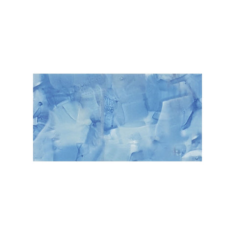 "CETFLWGBLUE36C - Aquatica Bluebell, 3"" x 6"" (1 box, 40 pcs) - Glass Tile"