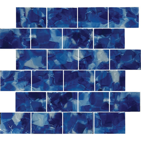 "CETFLWGIRI23C - Aquatica Iris, 2"" x 3"" - Glass Tile"