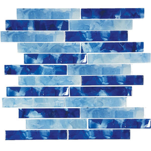 "CETFLWGPLBLENDC - Aquatica Pool Blend, 1"" x 6"" - Glass Tile"