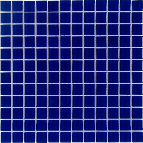 "CHIGLABR127 Cobalt, 1"" x 1"" - Glass Tile"