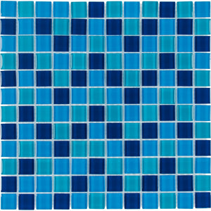 "CHIGLABR202 Ocean, 1"" x 1"" - Glass Tile"