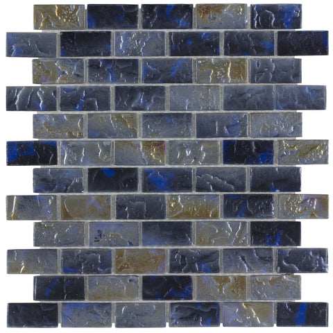"CHIGLACSNP004 Basalt, 1"" x 2"" - Glass Tile"