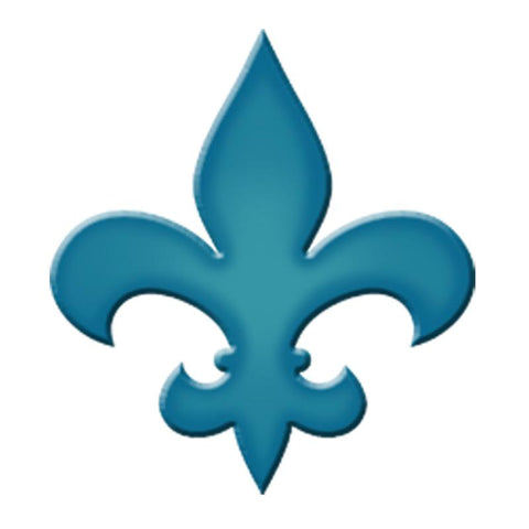 CM-FLS1-4LB Fleur De Lis Step Marker - Light Blue (Set of 3) Custom Mosaics