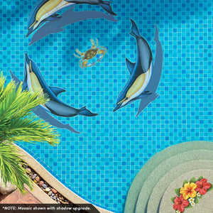 Common Dolphin - A, Porc | PORC-CD50-42 | Pool Mosaic by Custom Mosaics