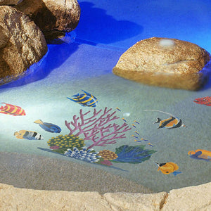 Coral Reef | CR53 | Pool Mosaic by Custom Mosaics