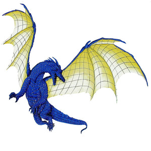 Dragon with Wings (Special Order) - Pool Mosaic - NS1200 - Artisry in Mosaics Custom Mosaics