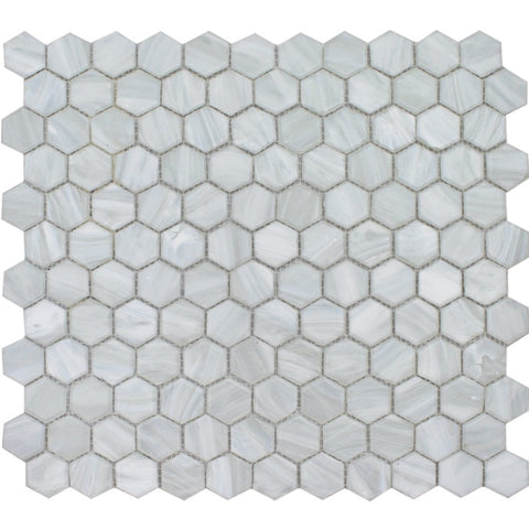 FOSAUROPEARLHX Pearl Hex Mosaic - Glass Tile