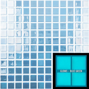 "FOTOLUMI - Fireglass 106 - Dark Blue, 1"" x 1"" - Glass Tile"