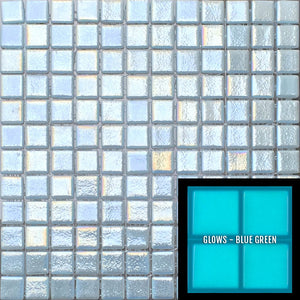"FOTOLUMI2 ANTI - Fireglass 107 Slip Resistant - Light Blue, 1"" x 1"" - Glass Tile"