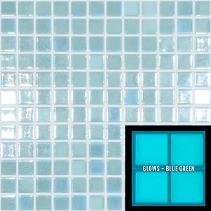 "FOTOLUMI2 - Fireglass 107 - Light Blue, 1"" x 1"" - Glass Tile"